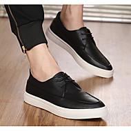 Erkek Ayakkabı Deri Bahar Rahat Spor Ayakkabısı Uyumluluk Günlük Beyaz Siyah Kırmzı