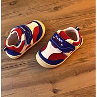 Genç Kız Düz Ayakkabılar İlk Adım Yapay Deri Bahar Sonbahar Açık Hava Rahat Yürüyüş Sihirli Bant Alçak Topuk Kırmzı Mavi Ekran Rengi Düz