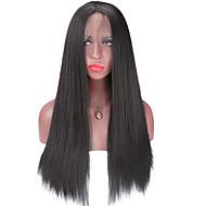 Sintentička kosa perika Yaki Ravan kroj Afro-američka perika Prirodna linija za kosu Lace Front Prirodna perika Medium Dug Crna
