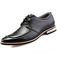 Masculino sapatos Couro Ecológico Primavera Outono Sapatos formais Oxfords Para Casual Preto Amarelo