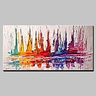 Maalattu Abstrakti Horizontal,Moderni European Style 1 paneeli Kanvas Hang-Painted öljymaalaus For Kodinsisustus