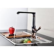 preiswerte Küchenarmaturen-Moderne Hoch / High-Arc Mittellage Keramisches Ventil Einhand Ein Loch Öl-riebe Bronze, Armatur für die Küche