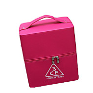 Women Bags PU Cosmetic Bag for Stage All Seasons Black Blushing Pink Fuchsia