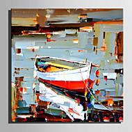 billiga Oljemålningar-Hang målad oljemålning HANDMÅLAD - Landskap Retro Duk / Sträckt kanfas