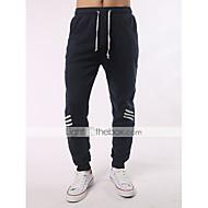 Pánské Šik ven Větší velikosti Bavlna Upnuté / Jogger / Volný Kalhoty - Barevné bloky Tmavě šedá / Sport