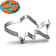 billige Kjeksverktøy-fisk kaker kutter rustfritt stål kake mold metall baking verktøy