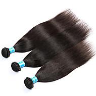 Gerçek Saç Orta Dalgalı Malezya Saçı İnsan saç örgüleri yaki Saç uzatma 3 Parça Siyah