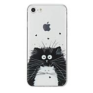 Til iPhone X iPhone 8 Etuier Mønster Bagcover Etui Kat Dyr Blødt TPU for Apple iPhone X iPhone 8 Plus iPhone 8 iPhone 7 Plus iPhone 7