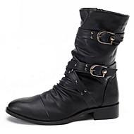Χαμηλού Κόστους Αντρικές Μπότες-Ανδρικά Νεωτεριστικά παπούτσια Δέρμα Φθινόπωρο / Χειμώνας Ανατομικό / Πρωτότυπο Μπότες Περπάτημα Μποτίνια Μαύρο