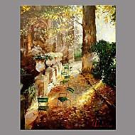 Peint à la main Paysage Rétro Un Panneau Toile Peinture à l'huile Hang-peint For Décoration d'intérieur