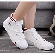 Femme Chaussures Toile Printemps Confort Basket Pour Décontracté Blanc Noir Bleu