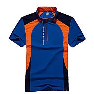 男性用 ハイキング Tシャツ アウトドア 速乾性 高通気性 Tシャツ トップス キャンピング&ハイキング 狩猟 釣り 登山