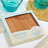 abordables Regalos Prácticos-posavasos de bambú de la fiesta en la playa (4pcs / box) 10 * 10 * 1cm / box beter gifts® estilo de vida