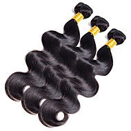 100g/bundle  One Piece Body Wave Human Hair 10-20Inch Dark Black Human Hair Weaves
