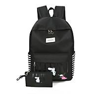 お買い得  スクールバッグ-女性用 バッグ オックスフォード スクールバッグ ラッフル のために ショッピング アウトドア オールシーズン ブラック ピンク ダークブルー グレー ライトブルー