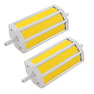 billige Spotlys med LED-2pcs 9 W 200 lm R7S Tubelys 3 LED perler COB Varm hvit / Kjølig hvit 85-265 V / RoHs