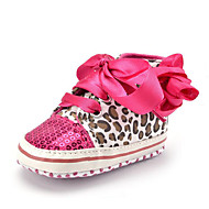 cheap Baby Shoes-Kid's Girls' Shoes Fabric Synthetic Fall Winter First Walkers Sneakers Sequin Ribbon Tie Animal Print Flower for Casual Party & Evening