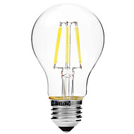 BRELONG® 1pc 6W 450lm E27 LED Filament Bulbs A60(A19) 6 LED Beads COB Dimmable Warm White White 200-240V