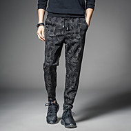 Homens Moda de Rua Cintura Média Micro-Elástica Harém Calças, Poliéster Primavera/Outono/Inverno/Verão Côr Camuflagem