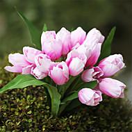 1 Stk / Sett 1 Gren Silke Tulipaner Bordblomst Kunstige blomster