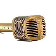 Jy-51 retro estilo de cor de madeira mágica karaoke microfone sem fio bluetooth microfone gravador de música música ktv