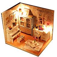 Nukkekoti Lelut DIY LED Lights erinomainen Käsin tehty Huonekalu Talo Puu 1 Pieces Lasten Syntymäpäivä Lasten päivä Lahja