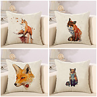 cheap Throw Pillows-4 pcs Cotton/Linen Pillow Case Pillow Cover, Classic Animal Novelty Classical Neoclassical Euro Traditional/Classic Retro
