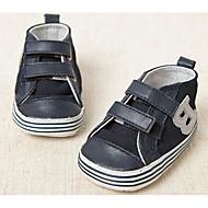 Bebek Ayakkabı Süet Bahar Sonbahar İlk Adım Düz Ayakkabılar Yürüyüş Alçak Topuk Yuvarlak Uçlu Sihirli Bant Uyumluluk Günlük Koyu Mavi