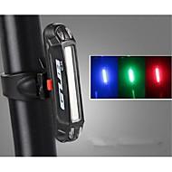 billige Sykkellykter og reflekser-Sykkellykter Baklys til sykkel LED LED Sykling Utendørs Vannavvisende Fargeskiftende Led Lys USB Lithium-batteri 100 Lumens Usb Blå Rød
