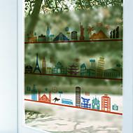 tanie סרטים ומדבקות לחלון-Art Deco Współczesny Naklejka okienna, PVC/Vinyl Materiał Dekoracja okna Jadalnia Sypialnia Biuro Pokój dla dzieci Salon Łazienka Shop /