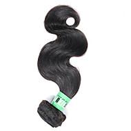 Cabelo Humano Cabelo Malaio Cabelo Humano Ondulado Onda de Corpo Extensões de cabelo 1 Peça Preto