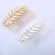Carved Ornaments Tong Blasting Tree Leaves Hair Comb Comb Baroque Fashion Hair Ornaments Headdress 2pcs