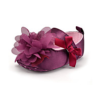 cheap Baby Shoes-Children's Shoes Satin Summer Fall Loafers & Slip-Ons Flower for Purple