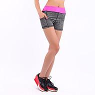 Mulheres Shorts de Corrida Shorts / Calças Ioga / Exercício e Atividade Física / Corrida Terylene Amarelo / Fúcsia / Vermelho S / M
