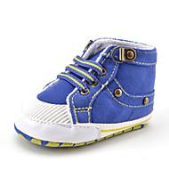 Infantil Bebê Tênis Primeiros Passos Sarja Outono Inverno Casual Social Festas & Noite Primeiros Passos Miçangas Elástico Rasteiro Azul