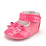 cheap Baby Shoes-Children's Baby Shoes PU Twill Summer Fall Bootie First Walkers Boots Tassel Lace-up for Casual Party & Evening Dress White Peach Navy