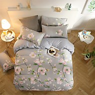 cheap Floral Duvet Covers-Duvet Cover Sets 3D Poly / Cotton Reactive Print 4 Piece