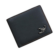 Men's Bags All Seasons Cowhide Wallet Smooth for Black