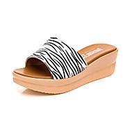 tanie -Damskie Sandały Comfort Skóra Lato Casual Comfort Koturn Black Niebieski 5 - 7 cm