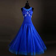 Se rochii de dans rochii de dans femei de performanță spandex organza cristale / pietre