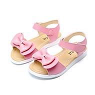 baratos Sapatos de Menina-Para Meninas Sapatos Microfibra Verão / Outono Conforto / Chanel / Sapatos para Daminhas de Honra Sandálias Caminhada Laço para Branco / Pêssego / Rosa claro
