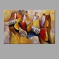 Hand-Painted Abstract instrument Oil Painting For Home Decoration With Stretcher Frame Ready To Hang