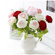 cheap Home Decor-1 Branch Silk Peonies Tabletop Flower Artificial Flowers