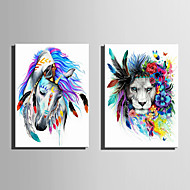 baratos -Animal Moderno Estilo Europeu,1 Painel Tela Vertical Impressão artística Decoração de Parede For Decoração para casa