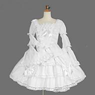 cheap Lolita Fashion Costumes-Gothic Lolita Dress Princess Women's Girls' Dress Cosplay White Cap Long Sleeves Knee Length