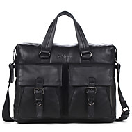 Men Bags Cowhide Tote Smooth for Business Casual Formal School Date Work Office & Career All Seasons Black Dark Brown