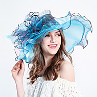 cheap Fashion Hats-Women's Tulle Bucket Hat Floppy Hat Sun Hat - Striped Stripe