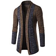 Bărbați Casul/Zilnic Activ Regular Cardigan-Mată Manșon Lung Gât Înalt Bumbac organic Toamnă Iarnă Mediu Micro-elastic