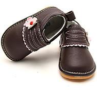 Genç Kız Ayakkabı Deri Bahar Sonbahar İlk Adım Atletik Ayakkabılar Yürüyüş Alçak Topuk Yuvarlak Uçlu Sihirli Bant Uyumluluk Günlük