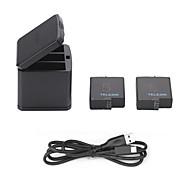 バッテリー ケーブル 充電器 屋外 USB コンパクトデザイン フォリオケース 多機能 急速充電 ために アクションカメラ Gopro 5 キャンピング&ハイキング ピクニック 屋外 バックカントリー pet プラスチック 金属合金